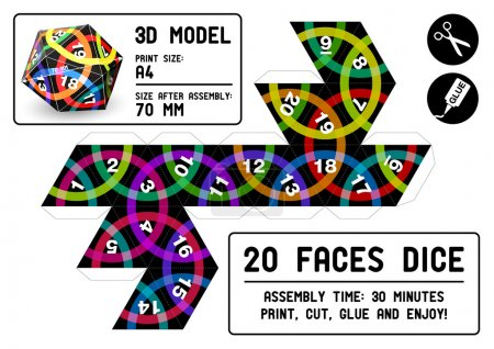 Role-playing 3d paper model...