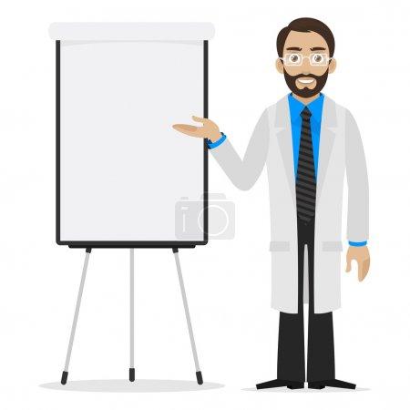 Illustration pour Illustration scientifique spécifie sur le tableau à feuilles mobiles, format EPS 10 - image libre de droit