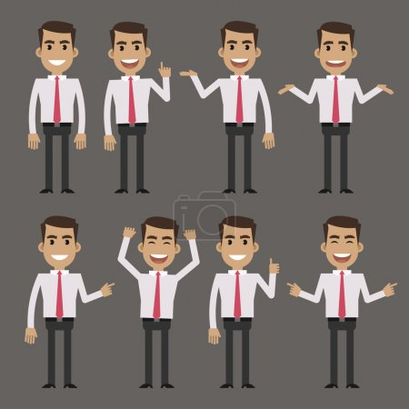 Businessman character in different poses