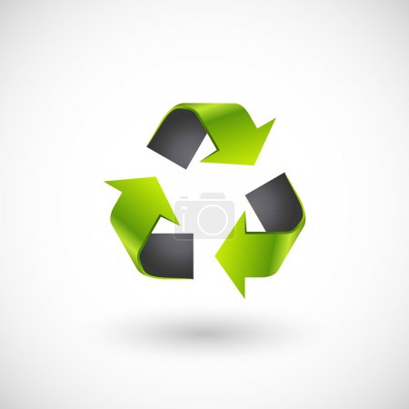 Illustration for Vector recycle logo - Royalty Free Image