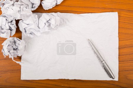 Photo for Blank for new beginning to start new project with crumpled paper - Royalty Free Image