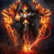 Fire lord rising from magma...