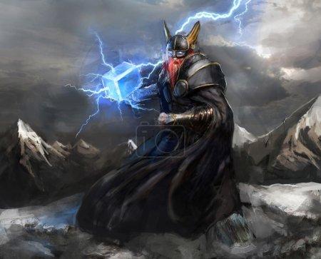 Viking god of lightning thor...