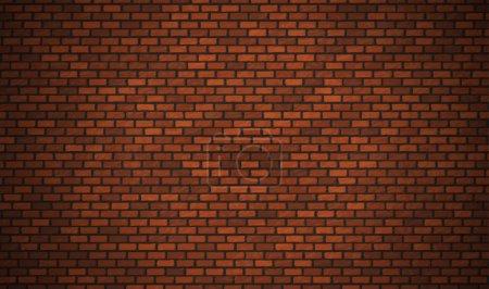 Illustration pour Vecteur réaliste mur de briques rouges, fond Eps10 . - image libre de droit