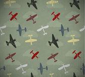 Retro seamless war planes pattern EPS10 vector image