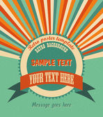 Cool retro background with radial rays and a round placeholder for your text EPS10 vector