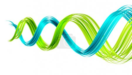 Illustration for Abstract background with two twisted waves. ESP10 vector. - Royalty Free Image