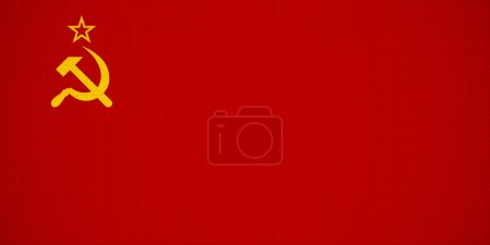 USSR flag made by all specifications. Removable te...
