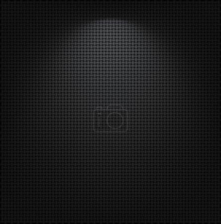 Illustration pour Maille métallique noire avec une tache lumineuse. Fond vectoriel EPS10 . - image libre de droit