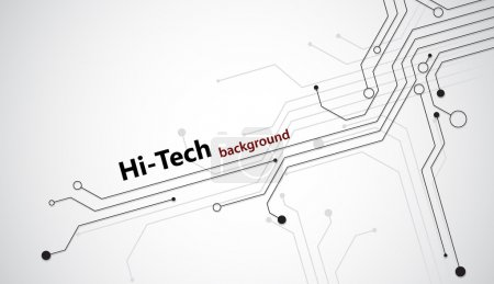 Illustration for Hi tech background with black semiconductor tracks. EPS10 vector. - Royalty Free Image