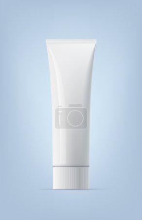 Illustration pour Tube de dentifrice blanc vide vide. Vecteur eps10 réaliste . - image libre de droit