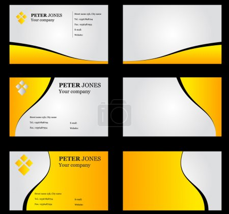 Business Card Set Yellow