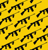 Tommy-gun seamless pattern