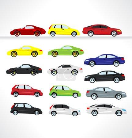 Illustration pour Icônes de voiture. Vecteur . - image libre de droit