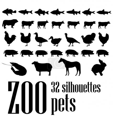 Silhouettes pets