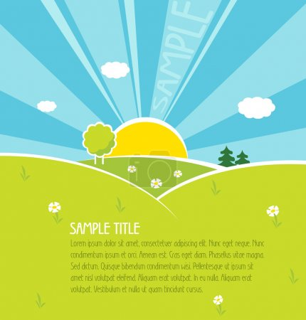 Illustration for Happiness vector background. The place under the text is provided. - Royalty Free Image