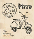 Design elements pizza scooters