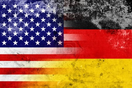 Grunge USA and Germany Flag