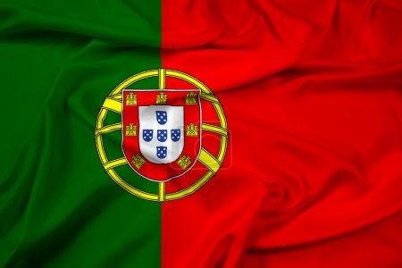 Waving Portugal Flag