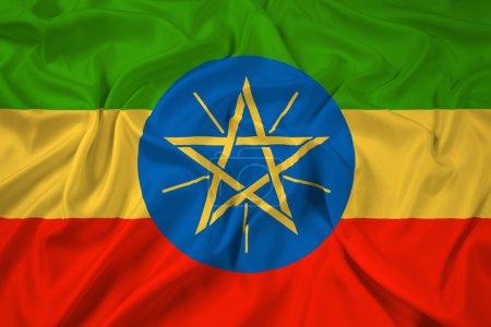 Waving Ethiopia Flag