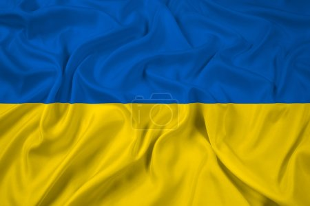 Waving Ukraine Flag