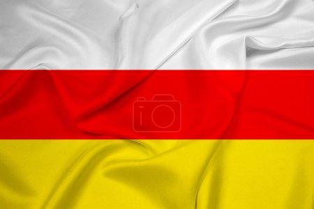 Waving South Ossetia Flag