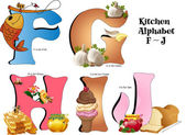 Kitchen Alphabet F thru J