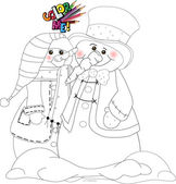 Color me snowman 005