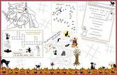 Placemat Halloween Printable Activity Sheet  2
