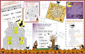 Placemat Halloween Printable Activity Sheet 1