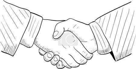 Hand drawn handshake