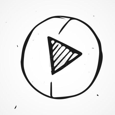Illustration pour Bouton Play - image libre de droit