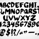 Alphabet letters. Hand drawn Vector Ink illustrati...