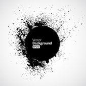 Black grunge ink splat shapes