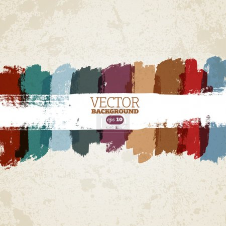 Illustration for Abstract vector hand-painted grunge background - Royalty Free Image