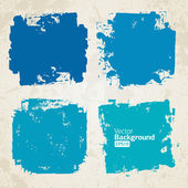 Vector set of grunge colorful brush backgrounds