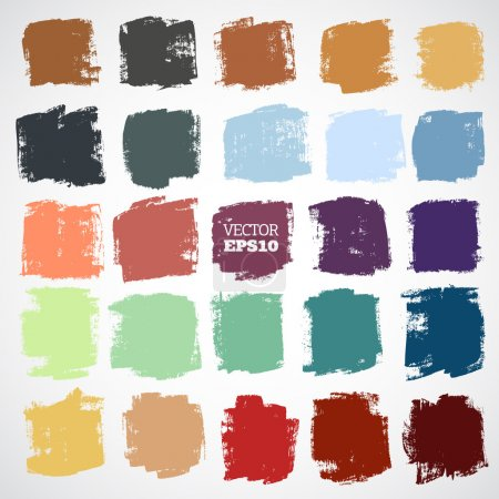 Illustration for Abstract vector hand-painted square backgrounds - Royalty Free Image