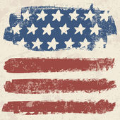 American flag vintage textured background Vector EPS10