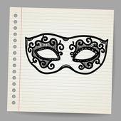 Vintage mask doodle