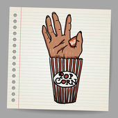 Illustration Of A Creepy Sawn Off Hand Horror Movie Conceptual