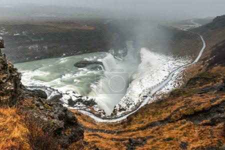 """Photo pour Cascade de Gullfoss (""""Golden Falls""""), l'une des attractions les plus populaires de l'Islande est une cascade située dans le canyon de la rivière Hvita dans le sud-ouest de l'Islande . - image libre de droit"""