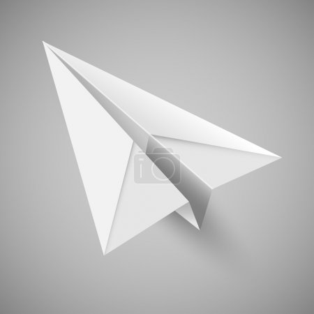 illustration of origami paper airplane