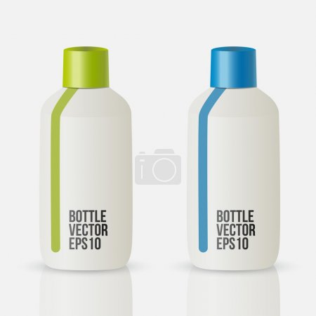 Bottle vector, Isolated on white
