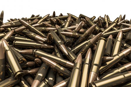 Rifle bullets pile