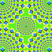 The optical illusion of movement executed in the form of pulsing squares
