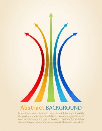 Colored arrows, vector. Design template.