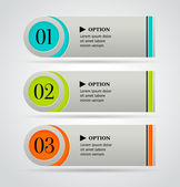 Horizontal colorful options banner template Vector illustration