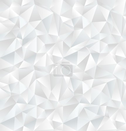 Illustration for Abstract white geometric seamless pattern. Vector Illustration - Royalty Free Image