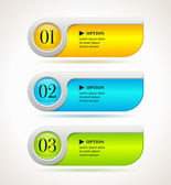 Shine horizontal colorful options banners or buttons template Vector illustration
