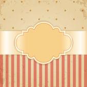 Golden vintage card Glossy label on beige grunge background